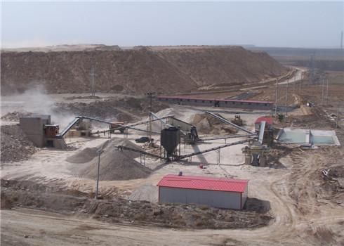 陕西汉中制沙生产线现场